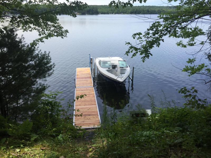 Stationary Aluminum Dock and Boat Lift for the Stubs'